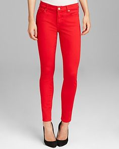 7 For All Mankind Jeans - Ankle Skinny Illusion Twill in Grenadine | Bloomingdale's