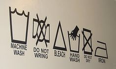 Laundry Symbols for laundry room