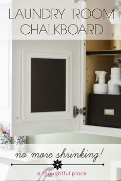Keep track of how to care for specific clothing items by hanging a chalkboard in your #laundry room
