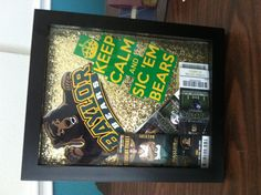 I need to do this for 2013!! It's been 5 years since I graduated!! #SicEm Made a shadow box for all my #Baylor sporting event tickets!! @Baylor Proud