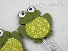 My Creations: Froggie and Turtle Large Paper Clips (bookmarks)