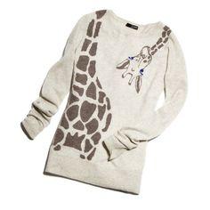 giraffe sweater, sweaters, fashion, giraffe clothes, giraff sweater, closet, giraffe clothing, wear, giraffes