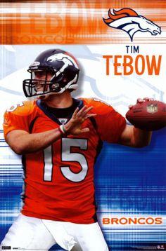 Tebow Denver Broncos poster