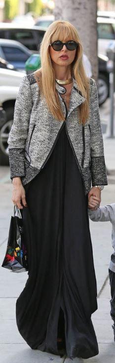 Loving Rachel Zoe's gray zipper jacket