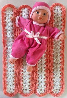 Best Free Crochet » Mile-a-Minute Baby Doll Afghan – Free Crochet Pattern
