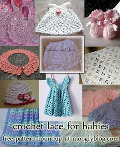 #Crochet Lace for Babies - 10 free patterns!
