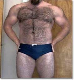 Goateed Hairy Bear Man In A Speedo - Hot!
