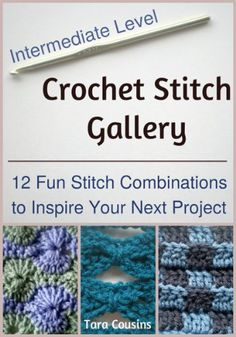 Crochet Stitch Gallery: 12 Fun Stitch Combinations to Inspire Your Next Project (Cute Kids Crochet). ✿⊱╮Teresa Restegui http://www.pinterest.com/teretegui/✿⊱╮