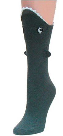 Shark Bite 3 Dimensional Trouser Socks by Foot Traffic $6.97
