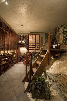 wine cellar embedded in bedrock