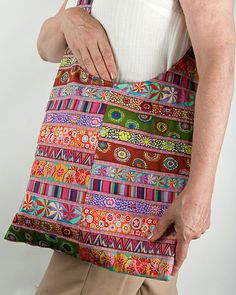Bag constructed with Fassett ribbon.