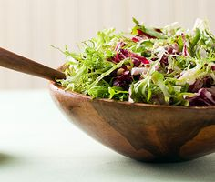 Frisée, Radicchio, and Fennel Salad with Mustard Vinaigrette