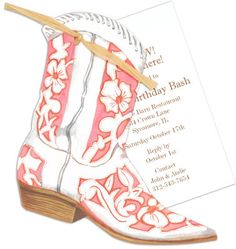 Cowgirl Boot Die-cut