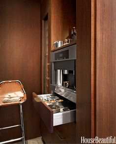 Designing a Modern Kitchen dreams, curat, decorating ideas, coffe system, house beautiful kitchens 2014, modern kitchens, drawer, applianc garag, coffee stations