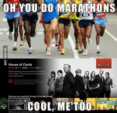 Marathons. Just not while I am in school