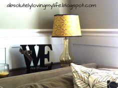 Loving Life: Going Yellow - Scrapbook Paper Covered Lamp Shade