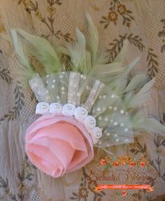 """Enchanted Shimmer Designs """"Daniella"""" Feather Piece with headband"""
