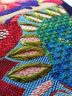 From Not your Grandmother's needlepoint; stitches by Ruth Schmuff