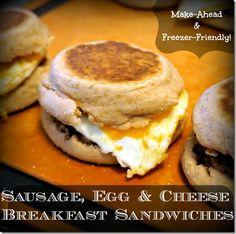 FOR RYAN! healthy freezer friendly breakfast sandwiches make ahead for the week