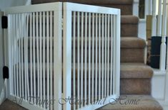 DIY Baby/dog Gate for Stairs