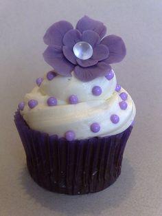 Violet Flower in Cupcake~