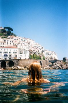 dipping in the waters of the Amalfi coast