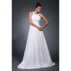 Long Chiffon Bridal Wedding Dress