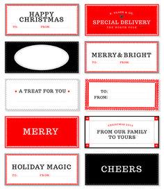 Love these printable holiday gift tags! #holiday #printable #wrapping scrapbook printables free, christma tag, christmas holidays, diy gift, holiday gifts, free printabl, tomkat studio, christmas gift tags, christmas gifts
