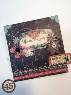 A beautiful Couture card from Denise Johnson - click to see the secret gift inside! Amazing ideas #graphic45 #cards