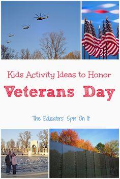 Kids Activities to Honor Veteran's Day