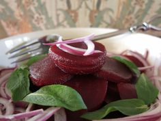 Turkish Beetroot Salad with Fresh Mint from www.vegfusion.org....vegan.