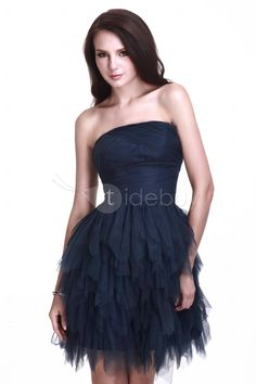 Fancy A-line Strapless Mini/Short Cocktail/Homecoming Dress