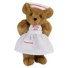 """Great if you're graduating from nursing school! 15"""" Nurse Teddy Bear from Vermont Teddy Bear. $69.99 #Graduation"""