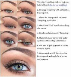 Victoria's Secret inspired eye makeup tutorial