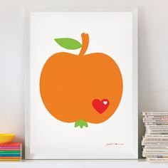 Candy Brights - by graziela poster apple - http://www.bygraziela.com/artikeldetails/category/homeware/article/apfel-poster.317.html