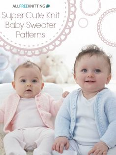 It doesn't get much cuter than this! Check out this free collection of knit baby sweater patterns. We've got the perfect pattern for formal occasions, casual play-dates, and more!