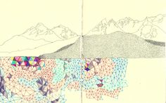 mountains and triangles by lea woodpecker #art #journal #sketchbook #moleskine