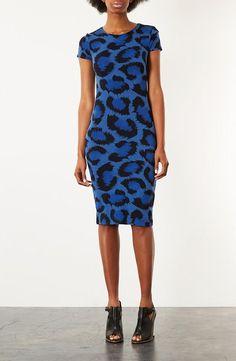Topshop Animal Print Body-Con Dress