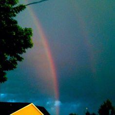 Rainbow from yesterday evening!!! - @foxymama923- #webstagram