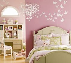 Butterfly wall art idea for the bedroom walls