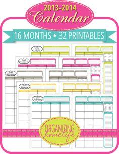 printabl calendar, binder organization, calendar printables 2014, 2014 calendar printable free, planner, free printabl, binder printabl, 20132014 printabl, printable calendars