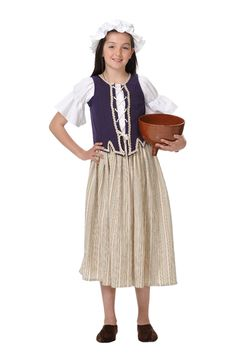 Traje #medieval de #campesina para niña