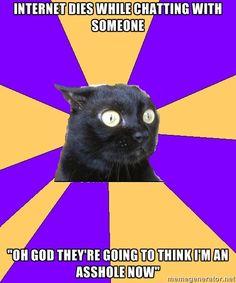 Anxiety Cat AKA My Life