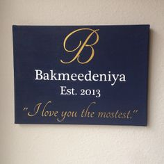 Wedding or Anniversary Painted Canvas Christmas Gift