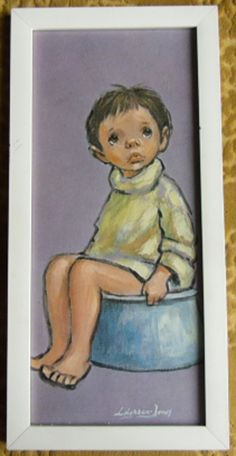 Vintage Art / Barry LeightonJones Big Eyed Boy