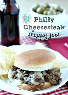 Get the love of a Philly Cheesesteak in a sloppy joe!