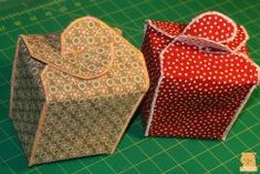Free pattern: Fabric take-out box