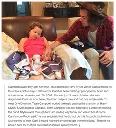 Another reason to love Harry, he does these things for them and not for publicity