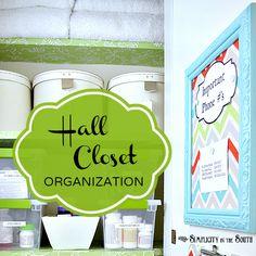 hall closet, organ idea, closets, closet organization, organizations, storag idea, clipboard, organization ideas, small homes