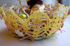 How-To: Vintage Doily Easter Basket